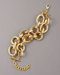 Devon Leigh | Metallic Two-strand Chain Bracelet | Lyst