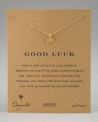 Dogeared | Metallic Good Luck Elephant Pendant Necklace | Lyst