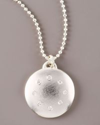 Dominique Cohen - Metallic Multi-diamond Disc Necklace, Large - Lyst