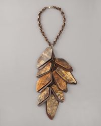 Donna Karan | Brown Cluster Necklace | Lyst