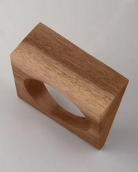 Donna Karan | Brown Angular Wood Bangle  | Lyst
