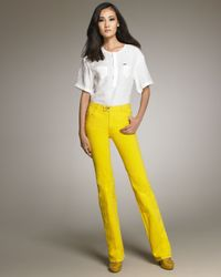 DSquared² | Yellow Flared Jeans | Lyst