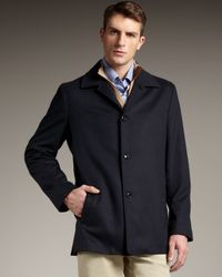 Ermenegildo Zegna   Blue Wool-silk Jacket for Men   Lyst