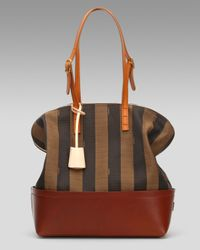 Fendi | Black Pequin Stripe 2bag | Lyst