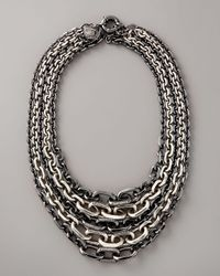Giles & Brother | Black Multi-strand Chain Necklace | Lyst