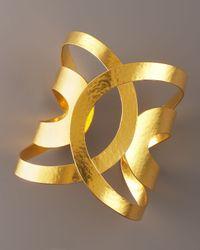 Herve Van Der Straeten Metallic Ellipse Cuff
