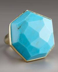 Ippolita | Blue Large Faceted Turquoise Ring | Lyst