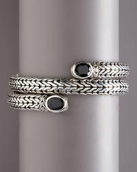 John Hardy | Black Classic Chain Batu Coil Bracelet | Lyst