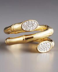 John Hardy | Metallic Pave Diamond Coil Ring | Lyst