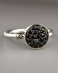 John Hardy - Bamboo Black Sapphire Ring, Small - Lyst