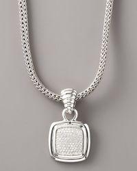 John Hardy | Metallic Bedeg Pave Diamond Pendant | Lyst