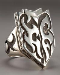 John Hardy | Metallic Dayak Shield Ring for Men | Lyst