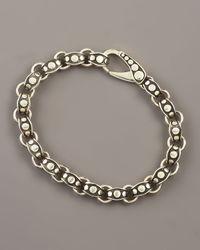 John Hardy | Metallic Dot Link Bracelet for Men | Lyst