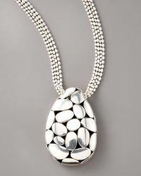 John Hardy Metallic Kali Pendant Necklace, Large