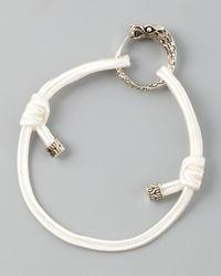John Hardy | White Naga Cord Bracelet | Lyst