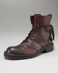 John Varvatos - Purple Brighton Addler Cap-toe Boot for Men - Lyst
