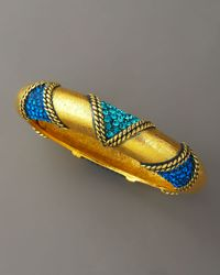 Jose & Maria Barrera - Blue Pave Gold Bangle - Lyst