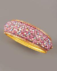 Jose & Maria Barrera - Pave-crystal Bracelet, Pink - Lyst