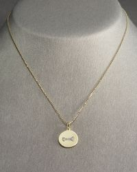 KC Designs - Metallic Diamond Dog Bone Charm - Lyst