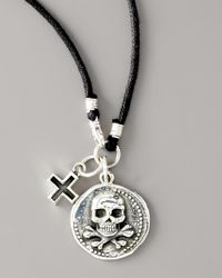 King Baby Studio | Metallic Skull Coin Cord Necklace for Men | Lyst