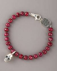 King Baby Studio | Red 7mm Ruby Bead Bracelet for Men | Lyst