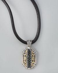 Konstantino | Black Pave Spinel Charm Necklace for Men | Lyst