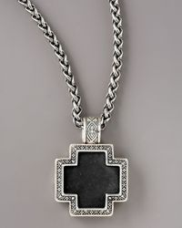 Konstantino | Metallic Paganini Onyx Cross Necklace for Men | Lyst