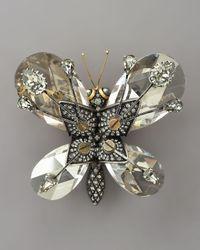 Lanvin Multicolor Butterfly Brooch