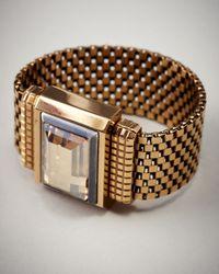 Lanvin - Metallic Chain Cuff - Lyst