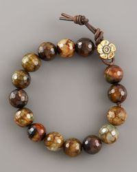 Love Heals | Brown Faceted Fire Agate Bracelet | Lyst