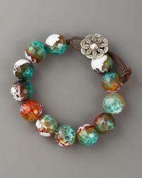 Love Heals Blue Multi-agate Bracelet, Large