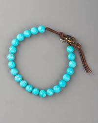 Love Heals Blue Turquoise Bead Bracelet