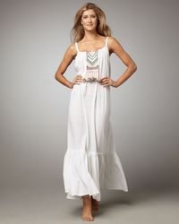 Mara Hoffman - White Embroidered Maxi Dress - Lyst