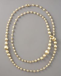 Marco Bicego - Metallic Long Goldbead Necklace 47 12l - Lyst