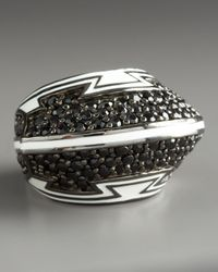 M.c.l  Matthew Campbell Laurenza | Black Spinel Spaceship Ring | Lyst