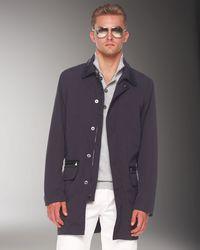 Michael Kors - Black Balmacaan Jacket, Button/zip Sweater & Modern-fit Jeans for Men - Lyst