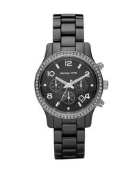 Michael Kors | Black Ceramic Glitz Watch | Lyst