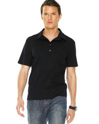Michael Kors | Button Polo, Black for Men | Lyst