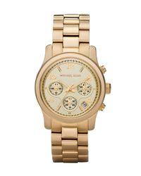 Michael Kors Metallic Yellow Golden Midsized Chronograph Watch