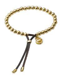 Michael Kors | Black Bead Stretch Bracelet | Lyst