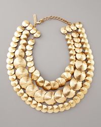 Oscar de la Renta Metallic Three-strand Cone Necklace