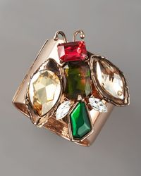 Oscar de la Renta - Multicolor Jeweled Insect Cuff Bracelet - Lyst