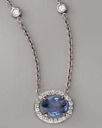Penny Preville | Metallic Sapphire & Diamond Necklace | Lyst