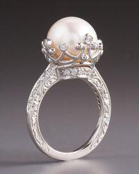 Penny Preville - Metallic Pearl Diamond Ring - Lyst