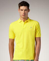 Polo Ralph Lauren | Yellow Mesh Polo, Lemon Crush for Men | Lyst