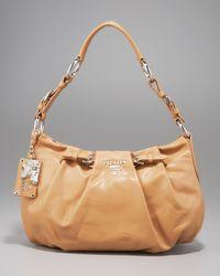 Prada | Brown Soft Calfskin Shoulder Bag | Lyst