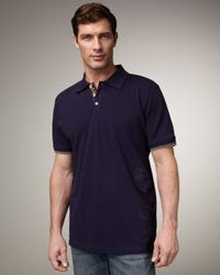Robert Graham | Blue Embroidered Polo, Navy for Men | Lyst
