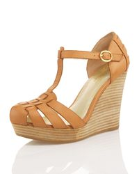 Seychelles | Natural Good Intentions T-strap Wedge | Lyst