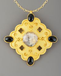 Stephanie Anne - Black Gold-plated Bishop Pendant - Lyst