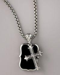 Stephen Webster - Black Mini Gothic Cross Pendant for Men - Lyst